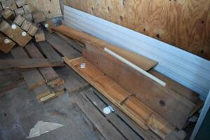 2 piles of assorted lumber, some 1 in. x 12 in.- PLEASE VIEW ALL PHOTOS