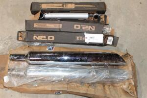 assorted Chrome Tail Pipes, Shocks