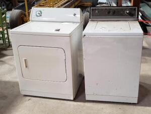 one used MAYTAG Washer & one used WHIRLPOOL Dryer