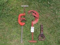 Two Extra Large Tool Works Pipe Cutter Heavy Duty No.4 Type USA and Heavy Pintle style Hitch