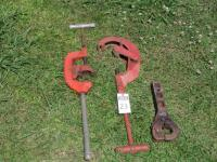 Two Extra Large Tool Works Pipe Cutter Heavy Duty No.4 Type USA and Heavy Pintle style Hitch - 7