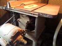 ROCKWELL Table Saw with a Vintage DELTA ROCKWELL 3/4 hp 3450 rpm table saw motor model 62-253 woodworking - 3