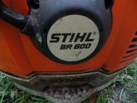 "STIHL BR 800 SEGC 4-Mix Backpack - Runs Great! ""American-built"" BR 800 is the ideal machine for professional landscaper with a 4.4 bhp engine - 8"