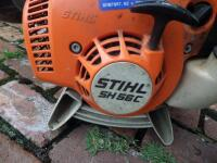 STIHL SH 56C Gas-Powered Shredder Vac/Leaf Blower; weighing 11.5 lbs. Two stroke engine with a fuel ratio 50:1 Easy 2 Start System Works Great! - 5