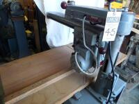 ROCKWELL Delta Super 900 Radial Arm Saw 1-1/2HP, 220V. SR#:CE6674 Working Height - Approx. 34 in. Power Stroke - Pneumatic Cylinder, 6.50 in. - 4