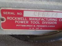 ROCKWELL Delta Super 900 Radial Arm Saw 1-1/2HP, 220V. SR#:CE6674 Working Height - Approx. 34 in. Power Stroke - Pneumatic Cylinder, 6.50 in. - 12