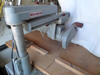 ROCKWELL Delta Super 900 Radial Arm Saw 1-1/2HP, 220V. SR#:CE6674 Working Height - Approx. 34 in. Power Stroke - Pneumatic Cylinder, 6.50 in. - 18