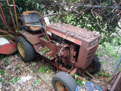 WHEEL HORSE Garden Tractor C-120 8 - Speed Tractor with 42 ft. Blade, Plow, & Wagon, Hydrostatic gears. Not in working order, but good Project Tractor
