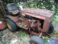 WHEEL HORSE Garden Tractor C-120 8 - Speed Tractor with 42 ft. Blade, Plow, & Wagon, Hydrostatic gears. Not in working order, but good Project Tractor - 2