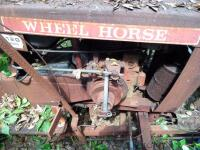 WHEEL HORSE Garden Tractor C-120 8 - Speed Tractor with 42 ft. Blade, Plow, & Wagon, Hydrostatic gears. Not in working order, but good Project Tractor - 13