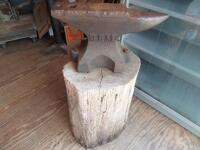 GEMI Cast Iron Anvil with Base Dimensions: Face width-3 1/2 in. Length-18 in; Height-10 1/2 in; Weight was stamped CWT system; - 3