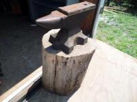 GEMI Cast Iron Anvil with Base Dimensions: Face width-3 1/2 in. Length-18 in; Height-10 1/2 in; Weight was stamped CWT system; - 7