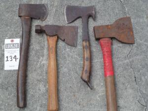 4 Hatchets Measuring Approximately 14 - 17 in. in length