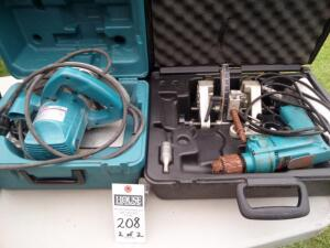 MAKITA 5007NB Circular Saw Corded Electric L.J. SMITH MAKITA 1/2 in. Bore Buster 901-B Part #LJ-3060 3/8 in. Electric Drill Model: 6302 No. 367978 A