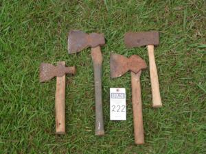4 Old Fashion Hatchets - SEE ALL PHOTOS FOR MEASUREMENTS