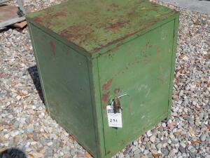 Green Storage Box w/ Lock & Key includes Entire Contents inside storage box - Includes small, medium and large size drill bits.