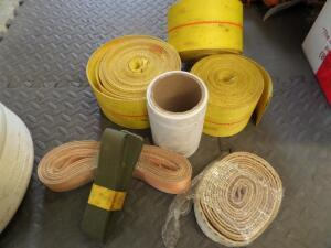 10 Pkgs of Straps: 2 Army Green; 1 Orange; 1 Cream; 1 White; 3 Large Yellow Straps; 18 ft. - 25 ft.; Rated 12,000 lbs.