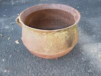Cast Iron Cauldron - Pot, with 3 legs, approx. 19 inches in Diameter; approx. 16 in. Tall, No Visible Cracks or Breaks, No visible brand or markings
