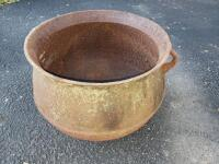 Cast Iron Cauldron - Pot, with 3 legs, approx. 19 inches in Diameter; approx. 16 in. Tall, No Visible Cracks or Breaks, No visible brand or markings - 2