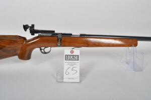 WESTERN FIELD Model 13 Target Rifle, CAL. .22 LR, bolt action, 26in. Blued bull target barrel, adjustable sights and recoil pad, Near mint condition.