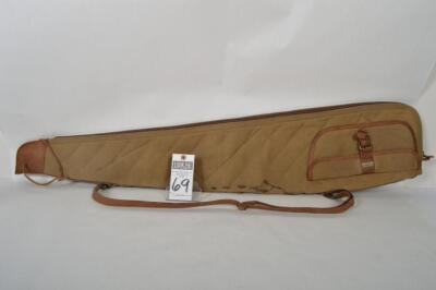 L.L. BEAN Heavy Canvas and Leather scoped rifle case. Some stains on canvas. Measures 48 inches. Overall very good condition