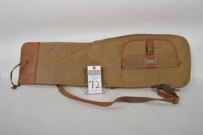 L.L. BEAN Heavy Canvas and Leather take down case. Small stain on comer of canvas. Measures 34 inches. Overall excellent condition