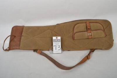 L.L. BEAN Heavy Canvas and Leather take down case. Measures 34 inches. Overall excellent condition
