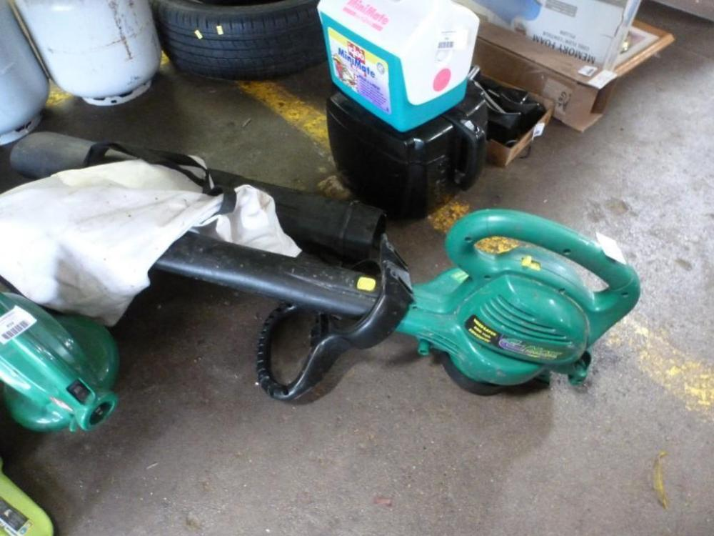 Weed Eater E Max Super Electric Blower Vac With Bag And Extra Nozzle EBV200W
