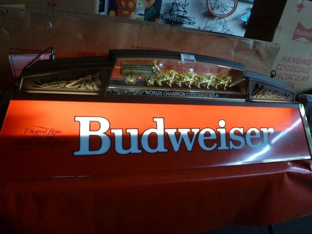 Budweiser Clydesdale Team Pool Table Light W UL - Budweiser clydesdale pool table light