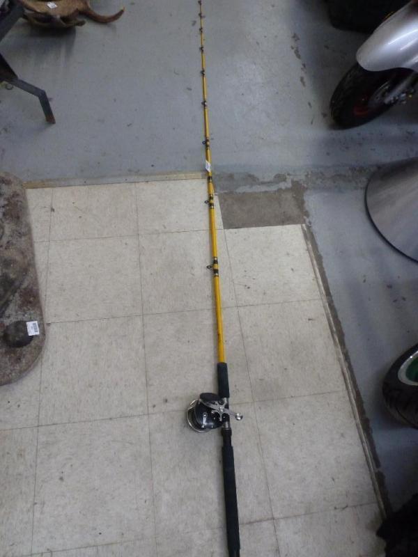 1) Penn No  309 Level Wind bakelite fishing reel on (1) Pro Angler