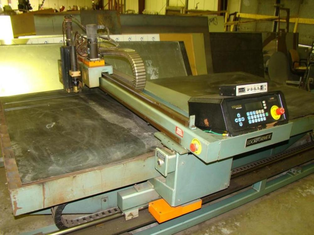 lockformer vulcan 2900 plasma cutting machine with hypertherm rh bid houseauctioncompany com