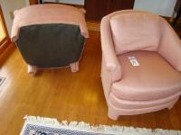 "Two Vintage Century Manufacturing ""Club"" type chairs, fully upholstered - 13"