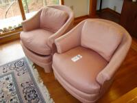 "Two Vintage Century Manufacturing ""Club"" type chairs, fully upholstered - 17"