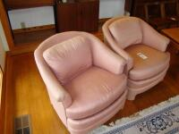 "Two Vintage Century Manufacturing ""Club"" type chairs, fully upholstered - 18"