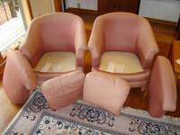 "Two Vintage Century Manufacturing ""Club"" type chairs, fully upholstered - 19"
