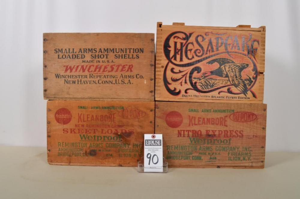 Terrific Variety Of Collectible Wooden Ammunition Boxes From