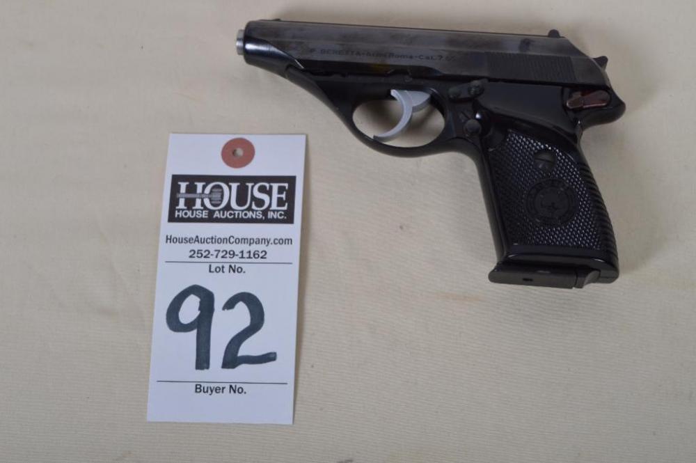 P  BERETTA Model 90, 7 65 cal , Semi-Auto Pistol  Serial