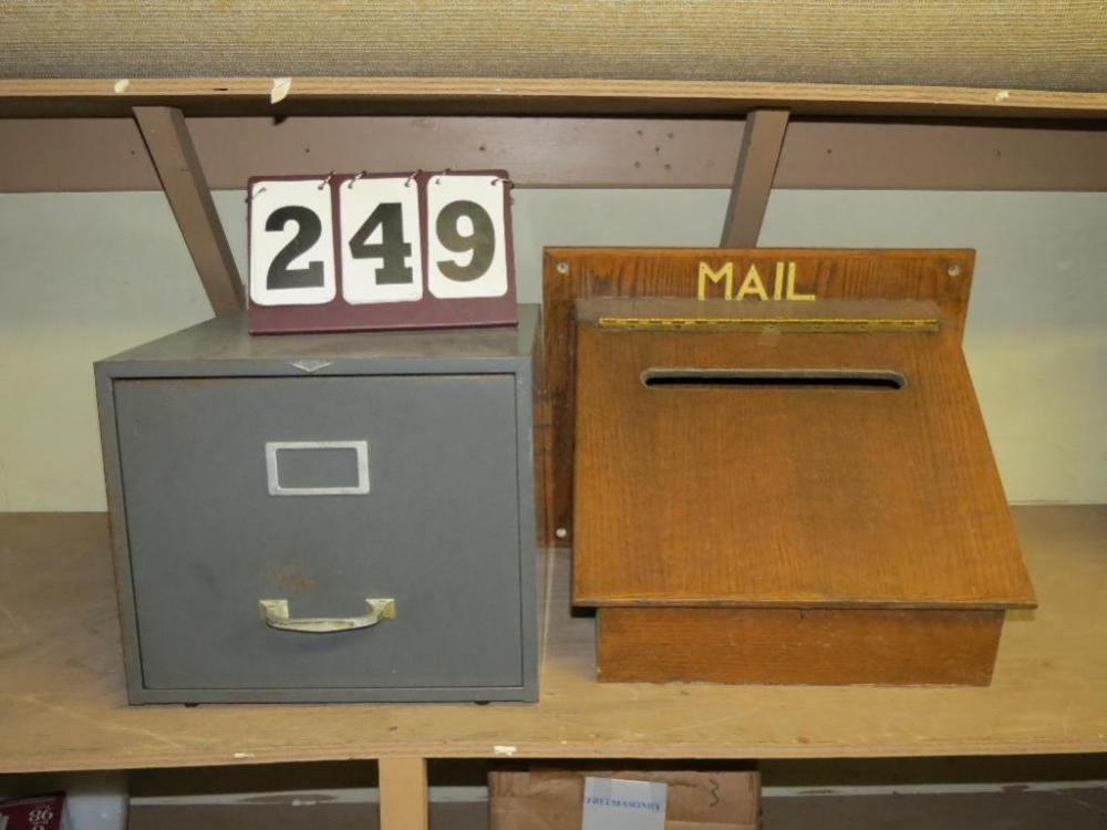 Single Drawer Filing Cabinet And Lockable Mail Drop Box