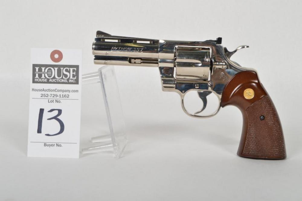 COLT PYTHON  357 Mag  Revolver, Nickel finish, 4